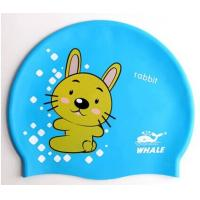 China Lovely Cute Cartoon Silicone Swimming Caps For Children , Boys , Girls wholesale