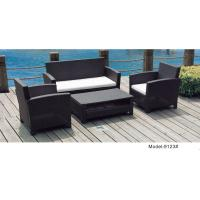 China 4-piece patio outdoor  wicker rattan deep seat sofa set with loveseat -9123 wholesale