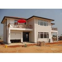 China Galvanized Ready Made Steel Structure Villa , Two Story Prefabricated Luxury Villas wholesale