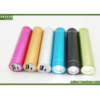 China Tube Flashlight Smartphone Power Bank , Gold 2600mAh Portable Mobile Charger wholesale