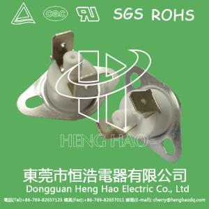 China Disc Type KSD301 Bimetal Thermostat Plastic / Ceramic Body Optional wholesale