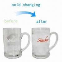 China Cold-sensitive Color-changing Glass Mugs with Logo Printing Services Provided wholesale
