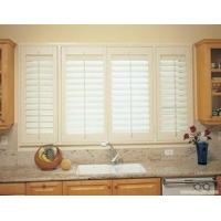 China High quality China Aluminum or PVC material white color indoor window shutter wholesale