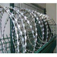 China Concertina Razor Wire Stainless steel Double Cross Barbed Wire wholesale