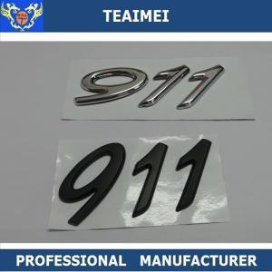 China ABS Plastic chrome Car Sticker 911 Car Letter Emblems Badge Car Body Decoration wholesale