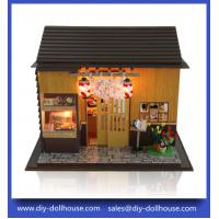 China Diy wooden toy dollhouse big roombox toy 13827 wholesale