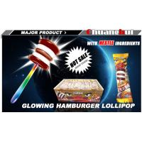 China Factory supply Fluorescent Chocolate Milk Flavor Hamburger / Lollipop Glowing Stick wholesale
