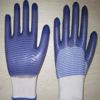 China blue PVC coated working gloves PG1511-12 wholesale