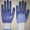 China blue PVC coated working gloves PG1511-12 wholesale