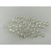 Mini Round Loose Moissanite Gemstone Brilliant Cut For Cluster Setting