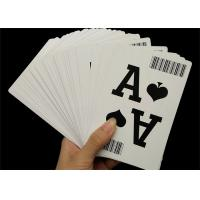China 310gsm Black Core Paper Casino Playing Cards Professional Custom with Bar Code wholesale