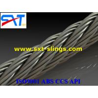 China galvanized/ungalvanized steel wire with PVC 6*19+FC wholesale