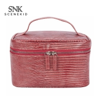 China Ladies Double Zipper 20.5cm Height Cosmetic Makeup Bag wholesale