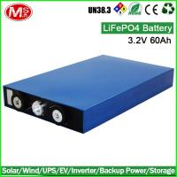 China Rechargeable high power prismatic 3.2V 60Ah lifepo4 battery cell for ev, storage wholesale