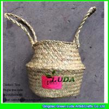 China LUDA fashion handmade natural seagrass made straw bottle basket wholesale