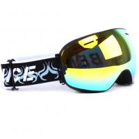 Quality Otg Design Uv Protection Mirrored Snow Goggles With Spherical Detachable Lens for sale