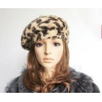 China Leopard Skin Rabbit Fur Hats wholesale
