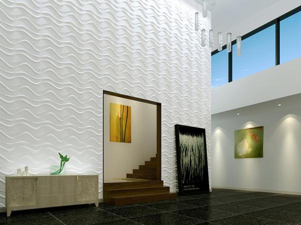 Textured Wall Panels Pvc : Plastic wall cladding textured exterior d panels