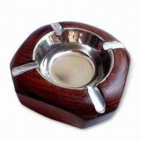 China Ashtray, Made of Wood, Customized Designs are Acceptable wholesale