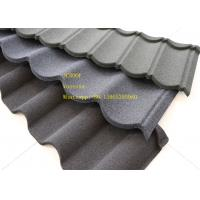 China Green Back Stone Coated Metal Roof Tile 2.08 Sheets Tiles Per Sqm , Galvalume Steel Sheet wholesale