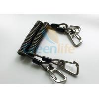 China High Security Coil Tool Lanyard Steel Reinforced 125MM Retractable Extension Cord wholesale