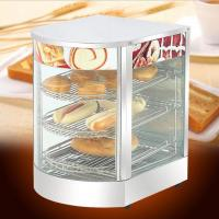 China Restaurant curved glass commercial food warmers Warming Showcase  wholesale