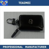 China Ash Black Lexus Business Key Holder Pouch With Zipper 100*60*25mm wholesale
