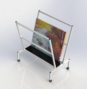 China V-Shape Metal Oil Painting Frame Display Rack Arts Bin Storage Stand wholesale