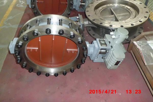 Quality Electric Actuated Butterfly Valve , DN50 - DN2400 Wafer Butterfly Valve Flange Type for sale