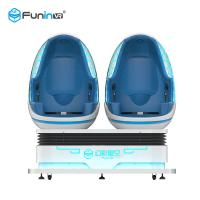 China 1.2KW 360 Degree Motion 9d VR Simulator Cinema Two Egg Seats for Theme Park wholesale