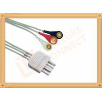 China White 3 Leads Nihon Kohden Ecg Cable ECG Lead Wires Cable 0.8M wholesale