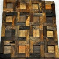 China Handmade Reclaimed Wood Wall Panels Natural Pattern For Coffee Shop / Bar wholesale