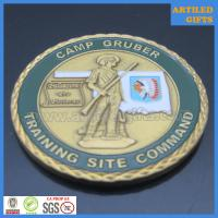Diamond cut Camp Gruber Training Site Command Great Seal of The State of Oklahoma coin