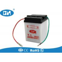 China White Six Volt Motorcycle Battery , Dry Charged 6v 4ah Motorcycle Battery For Scooter on sale