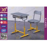 China Adjustable Primary Single Student Desk And Chair Set Customized on sale