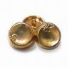 Buy cheap se aceptan los botones del metal de la aleación del cinc de 17.5m m, los diseños modificados para requisitos particulares y los logotipos from wholesalers