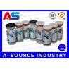 China Pharmacy Medication Bottle 10ml Vial Labels Laser Hologram + CMYK Printing wholesale