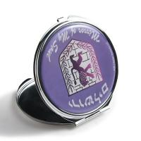 China Silver Round Double Sided Travel Mirror , Purse Compact Mirror Gift Items on sale