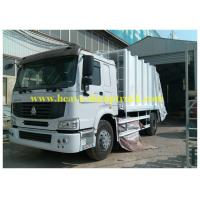 China Compressed Sanitation Garbage Truck 6X4 for transporting rubbish on sale