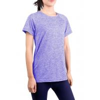 China Breathable Short Sleeve Workout Shirts Casual Style Four Way Stretch Material wholesale