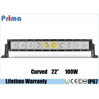 China Single Row 22 Inch Cree Curved LED Light Bar 100W High Power Cool White 6000K Jeep Roof Bar wholesale