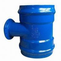 China PVC pipe-double socket tee with flanged branch wholesale