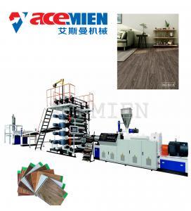 China High Output Plastic Floor Tile Machine , Floor Tiles Making Machine Click Vinyl on sale