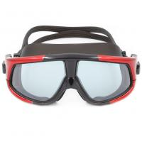 China Multi Color Stylish Sports Swimming Goggles Super Big Lenses For Adults wholesale