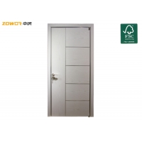 China Single Swing Curved Hinged Plywood Plain Wooden Door on sale