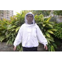 China Three Layer Bee Protection Suit  Ventilated Bee Jacket Velcro Design Zipper Sealed Transparent Veil wholesale