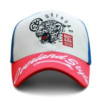 China 6 Panel Embroidered Baseball Caps With Metal Buckle Soft Or Hard Pre - Curved wholesale