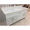 "China 61"" Quartz Bathroom Vanity Countertops Double Sink , Quartz Slab Countertops wholesale"