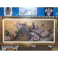 China Custom Hotel Decorative Metal Picture Frame Wall Art Cloisonne Paint Enamel on sale