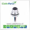China 4pin montaje femenino de la parte posterior del conector del soporte del panel del Uno-código M12 con los alambres del PVC 22AWG wholesale